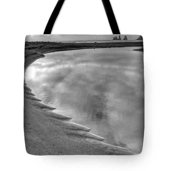 Black Sand Icelandic Beach Tote Bag by Claudio Bacinello