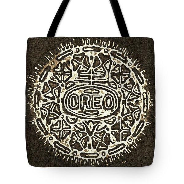 Black Sepia Oreo Tote Bag