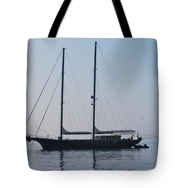 Black Ship 1 Tote Bag