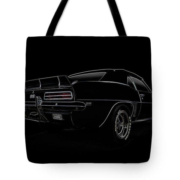 Black Ss Line Art Tote Bag