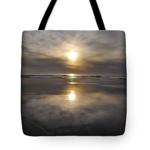 Black Sunset Tote Bag