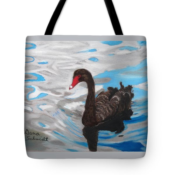 Black Swan Swimming Lake Eola Tote Bag