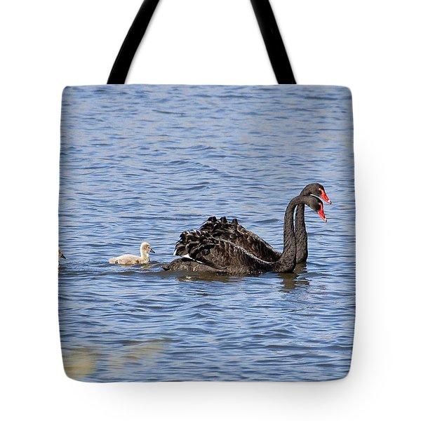 Black Swans Tote Bag by Steven Ralser