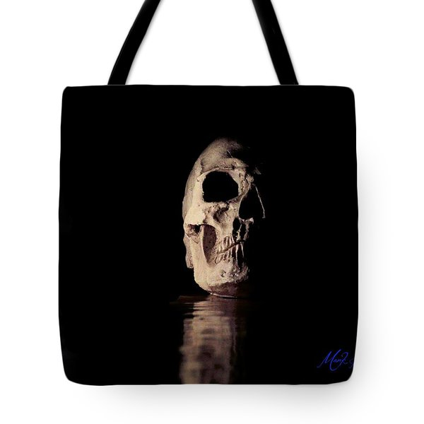 Blackbeard's Skull Tote Bag by Mark Blauhoefer