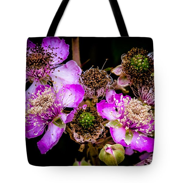 Tote Bag featuring the photograph Blackberry Flower by Edgar Laureano