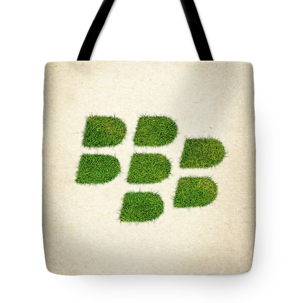 Blackberry Grass Logo Tote Bag by Aged Pixel
