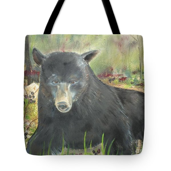 Blackberry Scruffy 2 Tote Bag by Jan Dappen