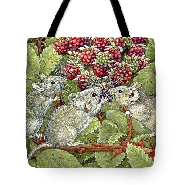 Blackberrying Tote Bag by Ditz