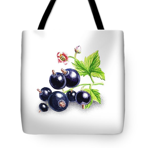 Tote Bag featuring the painting Blackcurrant Still Life by Irina Sztukowski