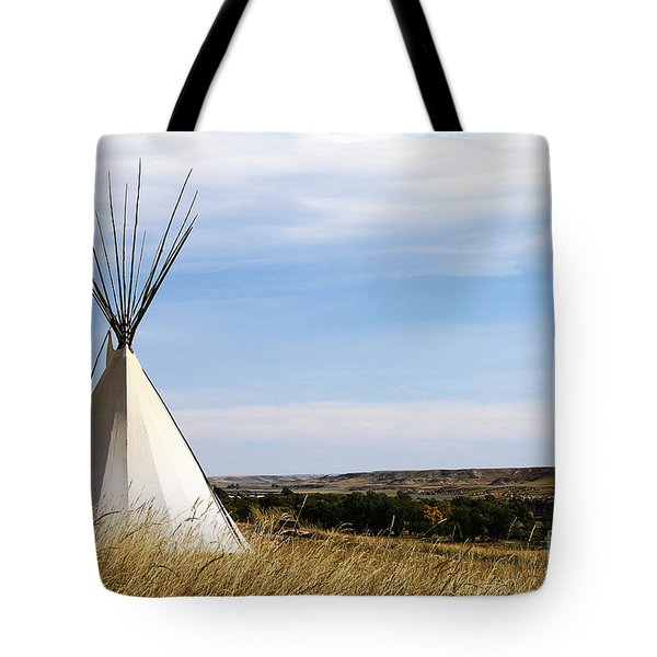 Tote Bag featuring the photograph Blackfoot Teepee by Alyce Taylor