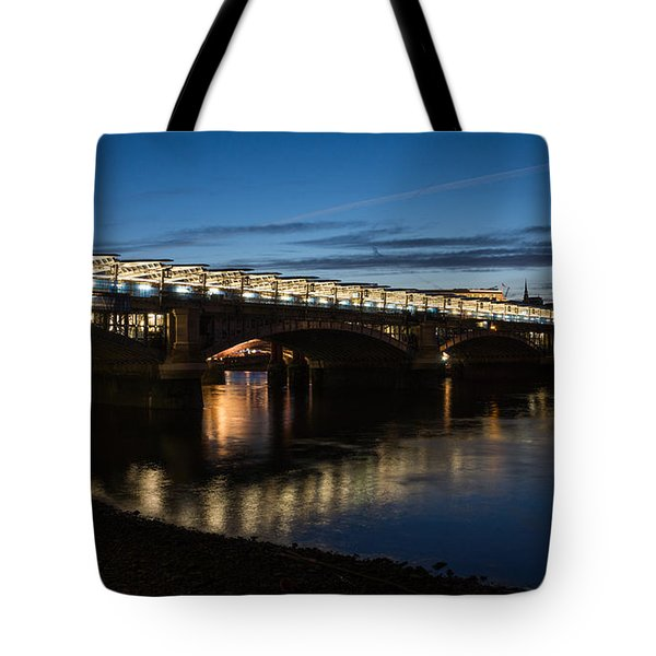 Tote Bag featuring the photograph Blackfriars Bridge - London U K by Georgia Mizuleva