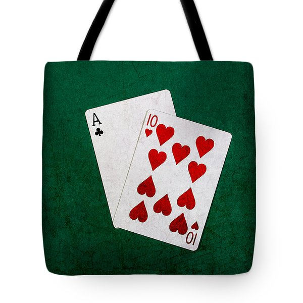Blackjack Twenty One 1 Tote Bag by Alexander Senin