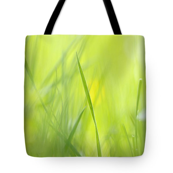 Blades Of Grass - Green Spring Meadow - Abstract Soft Blurred Tote Bag
