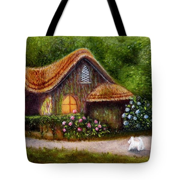 Blaise Rustic Cottage Tote Bag