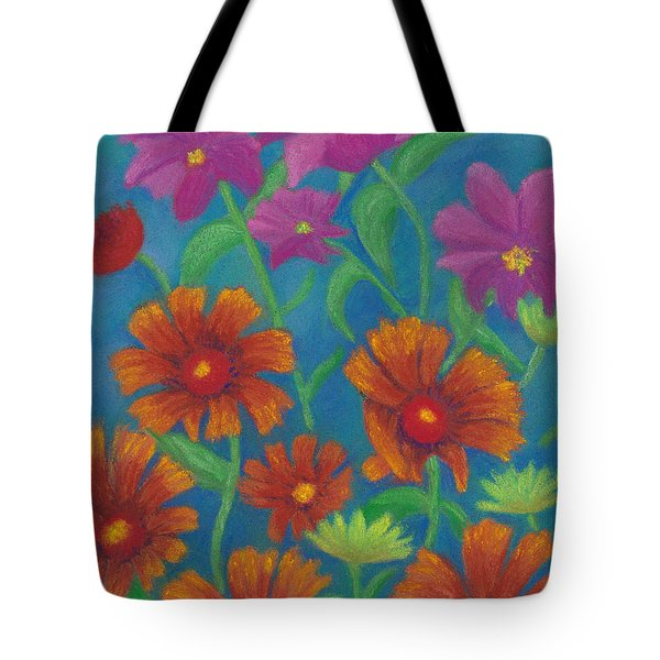 Blanket Flowers And Cosmos Tote Bag