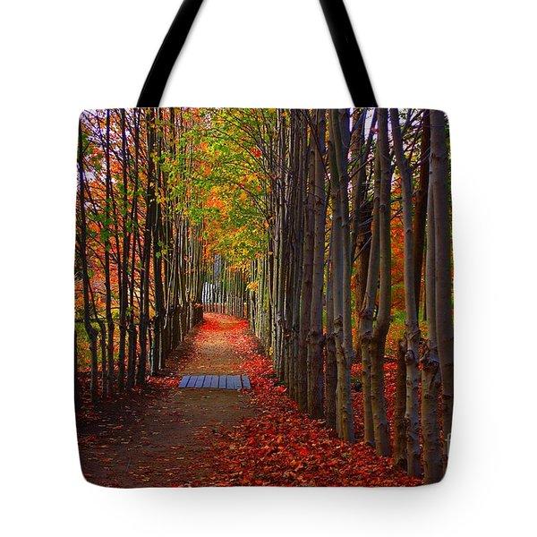 Blanket Of Red Leaves Tote Bag