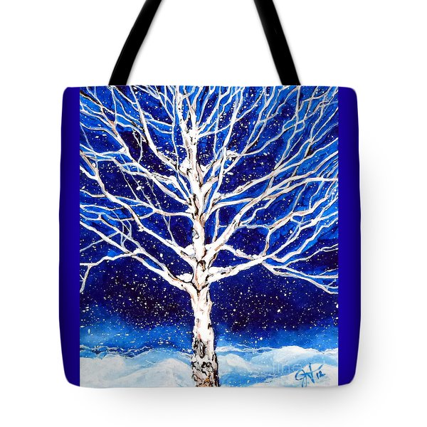 Blanket Of Stillness Tote Bag by Jackie Carpenter
