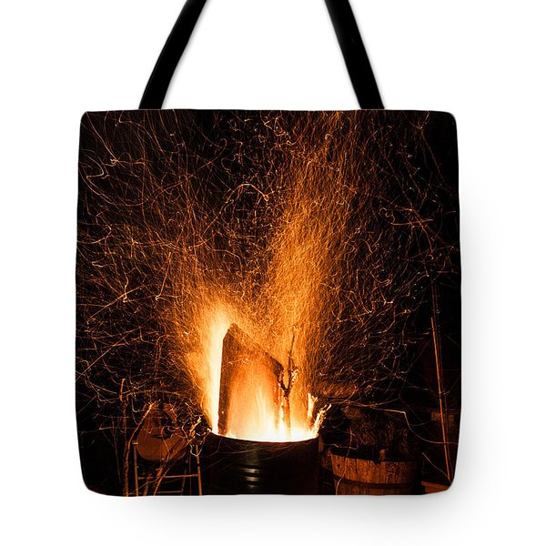 Blazing Bonfire Tote Bag