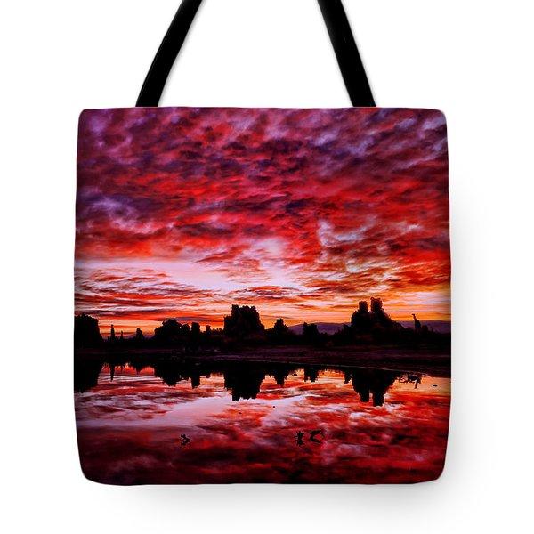 Blazing Dawn Tote Bag
