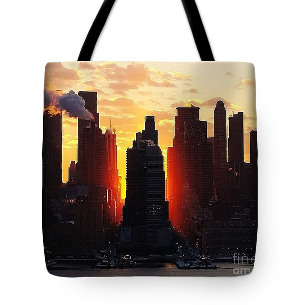 Blazing Morning Sun Tote Bag