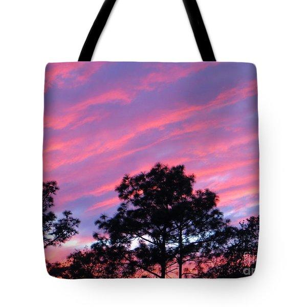 Blazing Pines Tote Bag