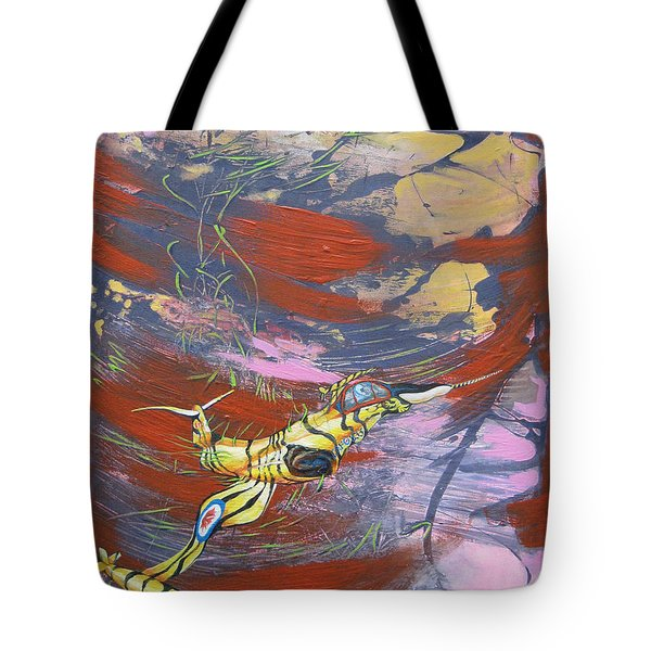 Blazing Starfighter Tote Bag