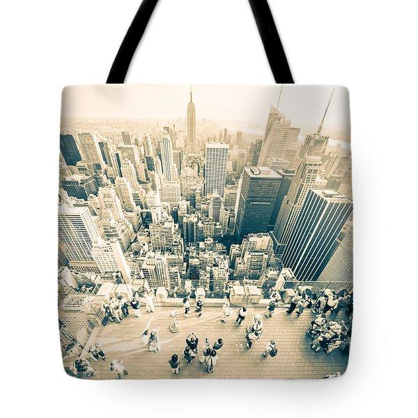 Bleached Manhattan Tote Bag