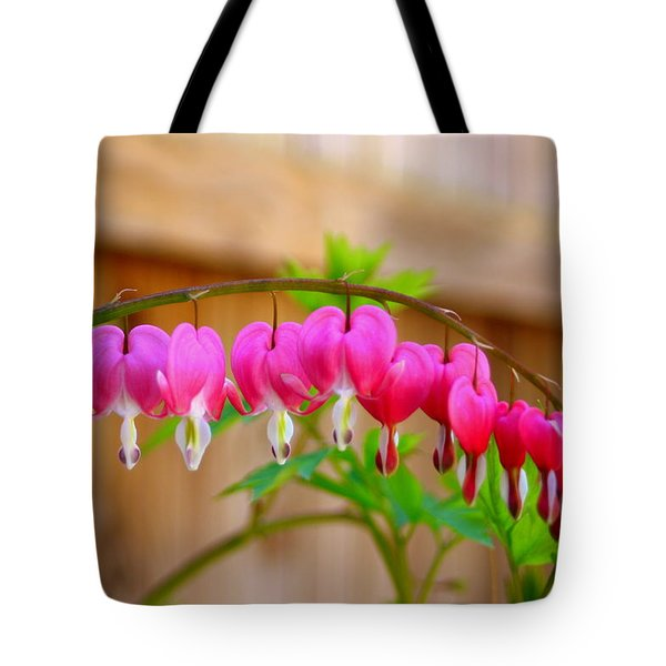 Graceful Arch Of Bleeding Heart Tote Bag by Patti Whitten