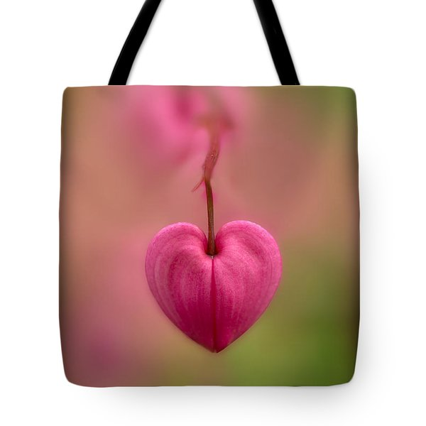 Bleeding Heart Flower Tote Bag