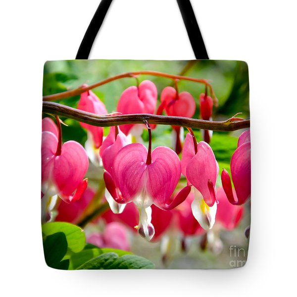Tote Bag featuring the photograph Bleeding Heart Flowers by Kristen Fox