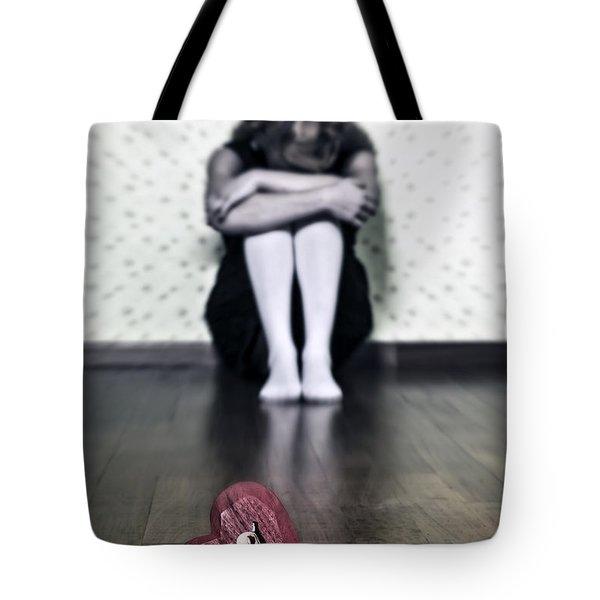 Bleeding Heart Tote Bag by Joana Kruse