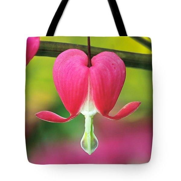 Bleeding Heart Tote Bag by Rona Black