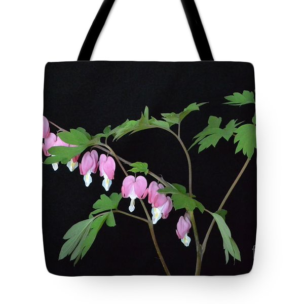 Tote Bag featuring the photograph Bleeding Hearts 2 by Jeannie Rhode