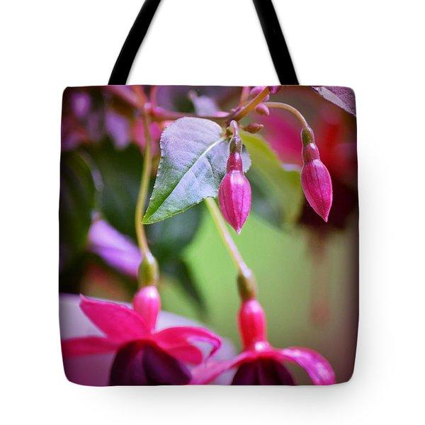 Bleeding Hearts Tote Bag by Denise Tomasura