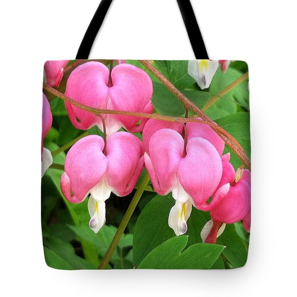 Bleeding Hearts On Parade Tote Bag