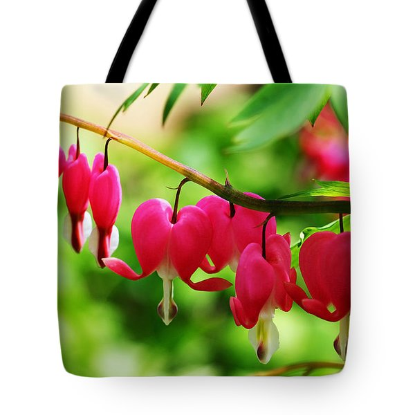Romantic Bleeding Hearts Tote Bag