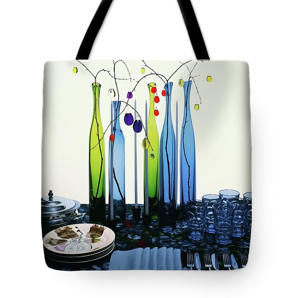 Blenko Glass Bottles Tote Bag