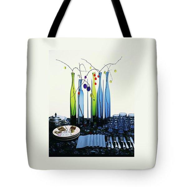 Blenko Glass Bottles Tote Bag