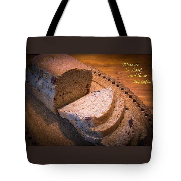 Bless Us O Lord Tote Bag