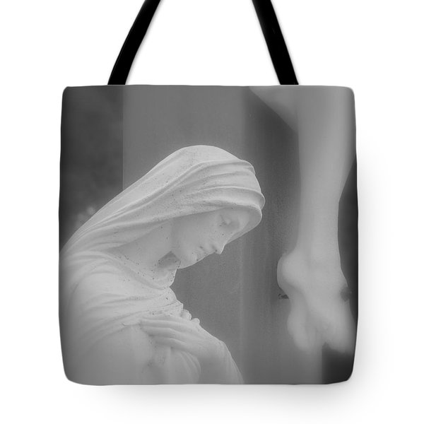 Blessed Mother Tote Bag by Beth Vincent