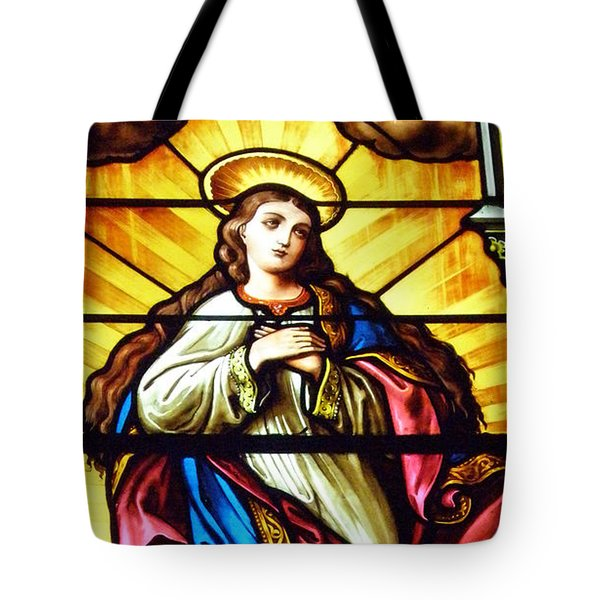 Tote Bag featuring the photograph Blessed Mother's Ascention by Debby Pueschel