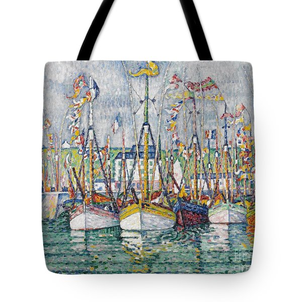 Blessing Of The Tuna Fleet At Groix Tote Bag