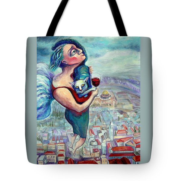 Blessing Over The Wine Tote Bag by Elisheva Nesis