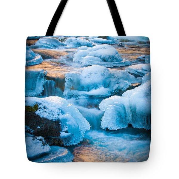 Blewett Pass Creek Tote Bag by Inge Johnsson