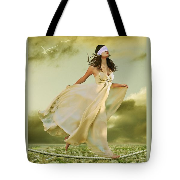 Blind Faith Tote Bag by Linda Lees