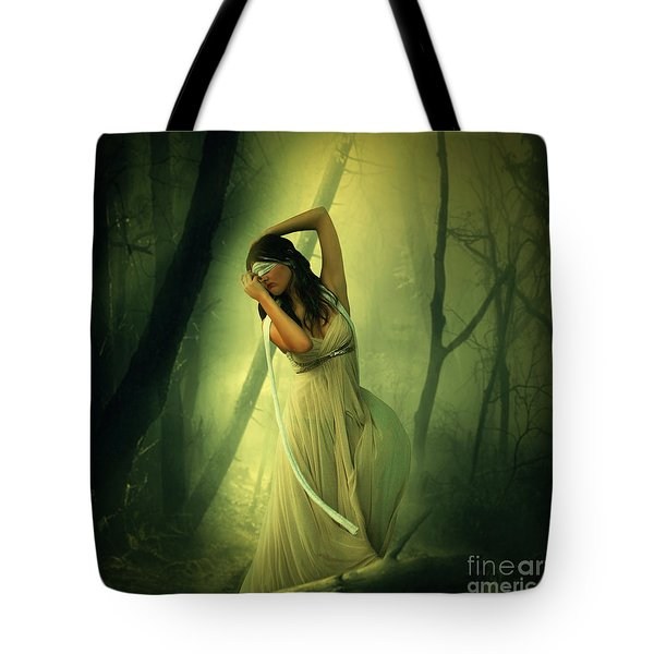 Blindfolded Tote Bag by Ester  Rogers