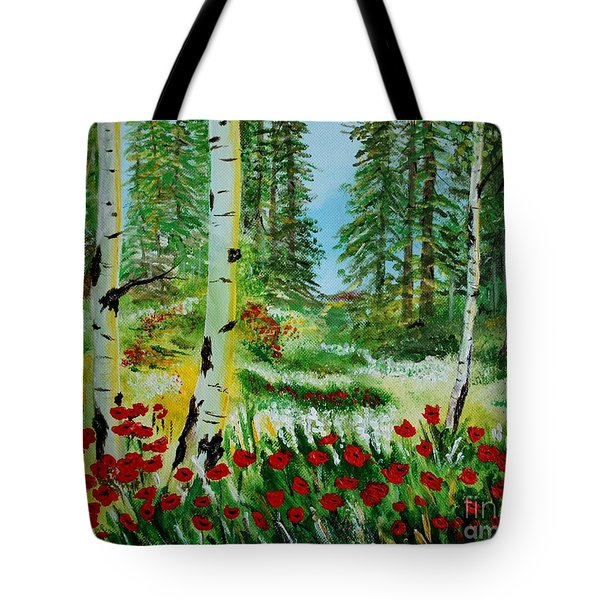 Tote Bag featuring the painting Bliss by Leslie Allen