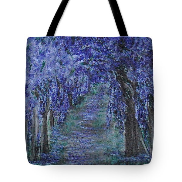 Blissful Walk Through Purple Tote Bag