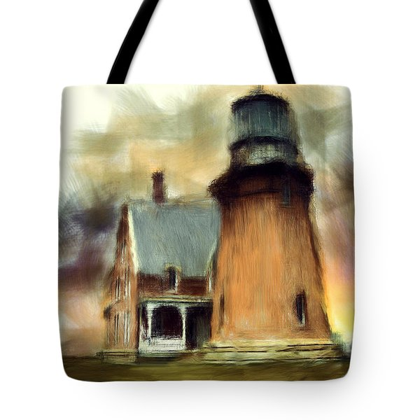 Block Island Light Tote Bag by Lourry Legarde
