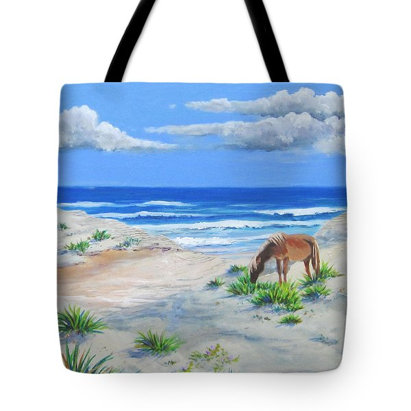 Blonde On The Beach Tote Bag